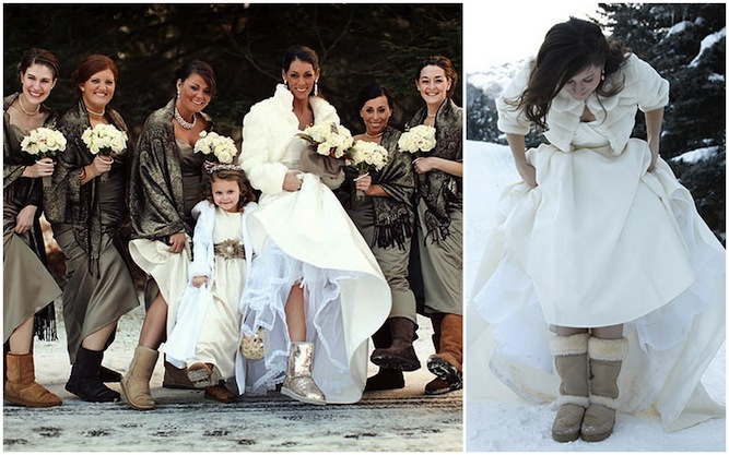 Would You Wear Ugg Boots At Your Wedding