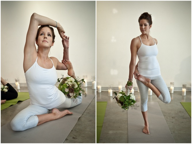 Erin Daniels Holme of Red Sole Events and Andrea Cook of Andrea Lee  Photography, both out of Dallas, Texas, envisioned the perfect wedding day  bridal yoga ...