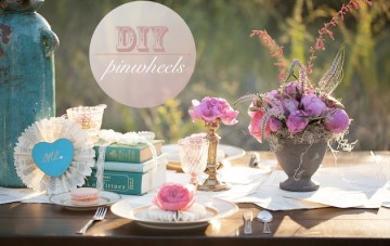Easy DIY Pinwheel Place Settings, Decor & Cake Toppers