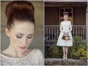 vintage wedding dress & floral