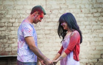 An Explosion Of Colour Holi Powder Anniversary Shoot