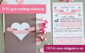 Win Your Wedding Invitations With Dottypink Designs!