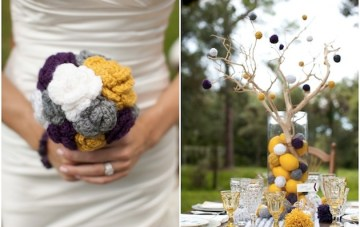 Whimsical Blackberries, Lemonade & Pom Poms Wedding Shoot
