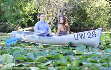 'Kiss The Girl' Inspired Row Boat Engagement Shoot