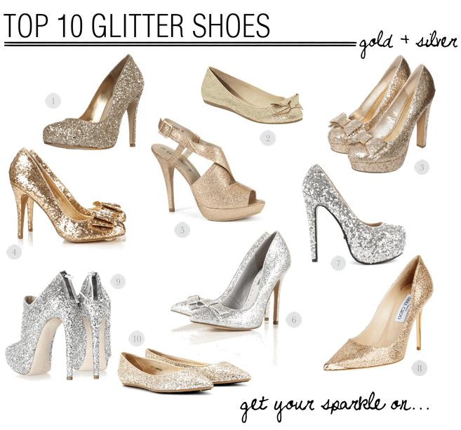 Top 10 Glitter Wedding Shoes