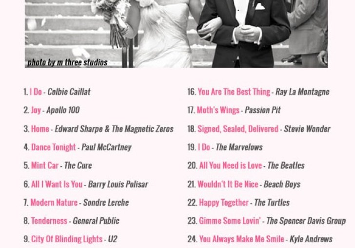 Modern Wedding Songs