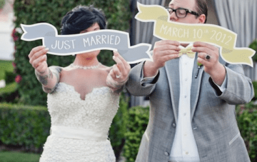 Modern Chic Yellow, Grey & Chevron Wedding In Palm Springs