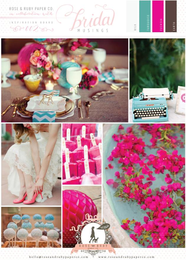 Turquoise And Fushia Wedding Inspiration