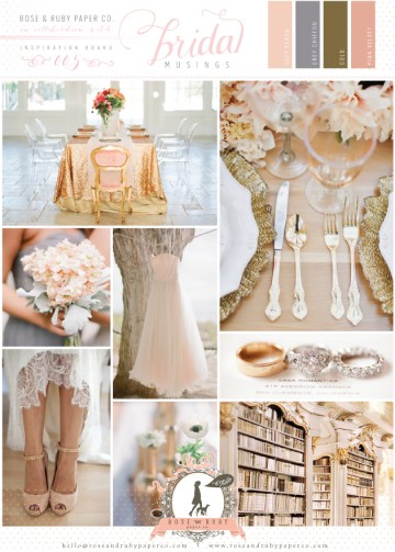 Rose-&-Ruby-Wedding-Inspiration-Board-5-Soft-Peach-Chiffon-Gold-Pink-Velvet