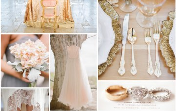 Soft Peach, Grey & Gold Wedding Inspiration