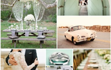 Retro Mint Wedding Inspiration Board