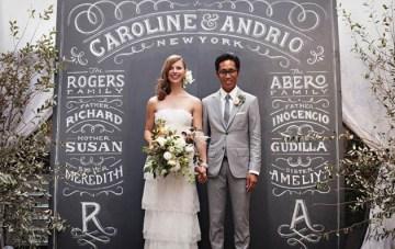 Chalkboard & Anemones Wedding Inspiration & Ideas