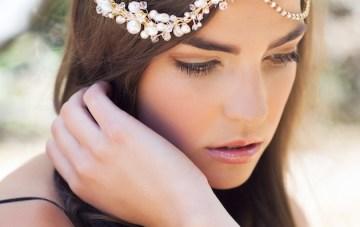 LAUREL gold bohemian headpiece
