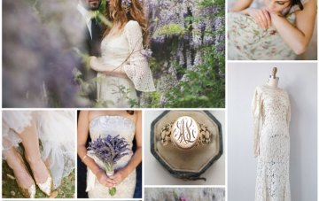 Powder Blue & Lavender Wisteria Wedding Inspiration