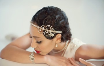 Golden 20s Great Gatsby Wedding Inspiration Shoot