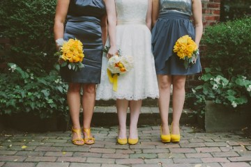 Retro Grey and Yellow Garden Wedding | With Love And Embers 23