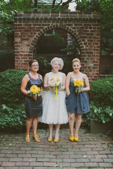 Retro Grey and Yellow Garden Wedding | With Love And Embers 25