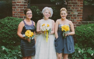 Retro Grey and Yellow Garden Wedding   With Love And Embers 25