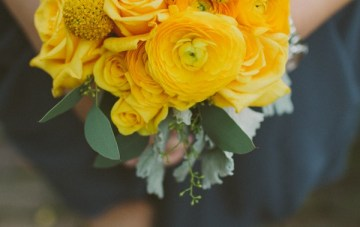 Retro Grey and Yellow Garden Wedding   With Love And Embers 26