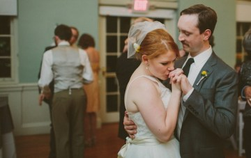Retro Grey and Yellow Garden Wedding   With Love And Embers 42