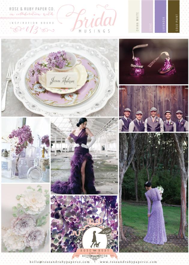 Lilac Lavendar and Gold Wedding Inspiration