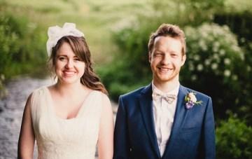 Rustic English Barn Wedding: Vintage Pastels & Floral Fabrics