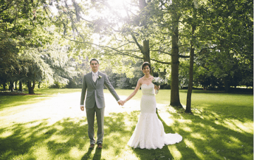 Chic & Quirky Green, White & Gold Wedding