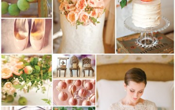 Pretty Peach and Apple Green Wedding Inspiration