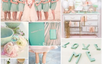 Mint, Blush Pink & Gold Wedding Inspiration