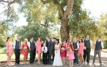 Pink & Coral Rustic Ranch Wedding