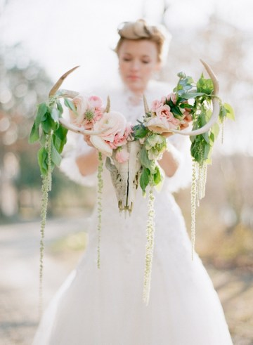 Whimsical Woodland Bridal Shoot Featuring Floral Antlers | Photography | Bridal Musings 20