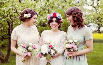 Colourful Vintage Barn Wedding In The Countryside