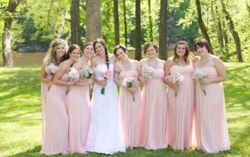 Rustic Pink Wedding: Lace, Burlap & Baby's Breath
