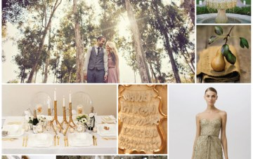 Rustic Luxe Golden Forest Wedding Inspiration Board