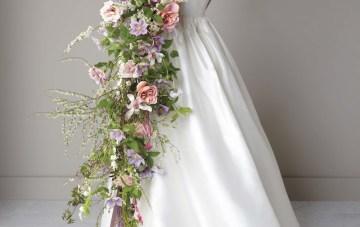 Bouquet, flowers, bride, weddings, fall, dress