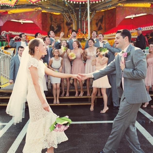 Colourful Handmade Backyard Wedding Featuring A Trip To