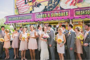 DIY Backyard Wedding | Carnival Wedding | Lauren Fair Photography 6