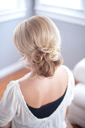 chignon hair tutorial | Millie B Photography | Bridal Musings 21