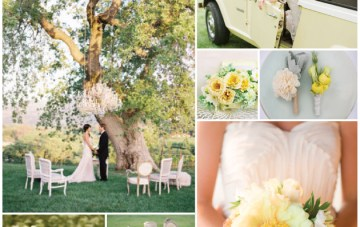 Buttercup Yellow & Leafy Green Wedding Inspiration