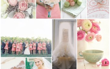 Perfectly Pretty Pink & Green Wedding Inspiration Board