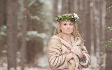 Magical Snow & Lavender Winter Wedding Inspiration Shoot