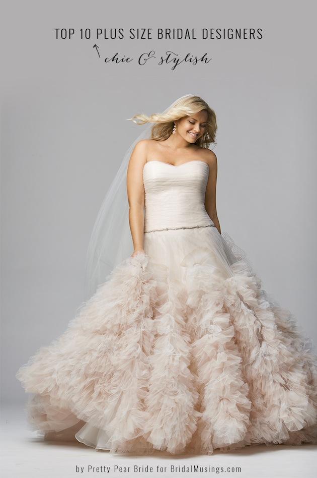 45f0acc69b Top 10 Plus Size Wedding Dress Designers By Pretty Pear Bride