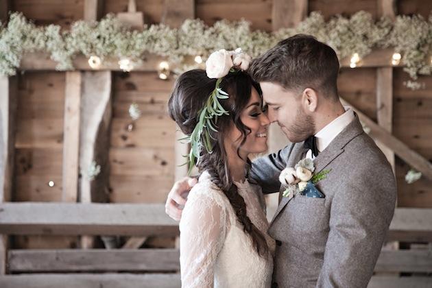Beautiful Barn Wedding Inspiration Shoot A Winters Romance