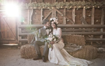 Beautiful Barn Wedding Inspiration: A Winter's Romance
