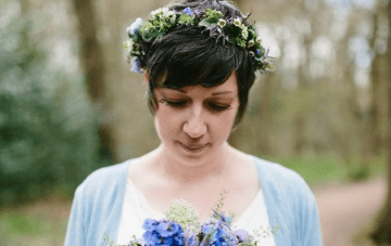 Intimate Handfasting Wedding Ceremony In The Woods