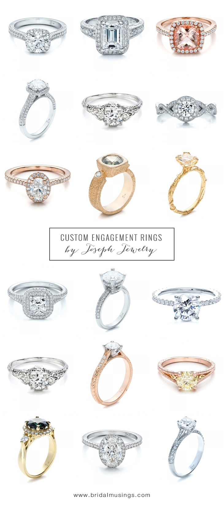 Unique Custom Engagement Rings By Joseph Jewelry