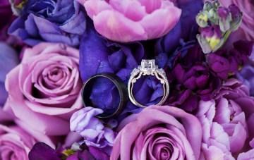 Elegant Purple Wedding At The Salt Lake City Temple