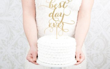 *Giveaway Closed* Win! A gorgeous custom cake topper from Better Off Wed!
