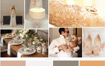 Golden Haze; Peach, Rose & Mink Wedding Inspiration Board