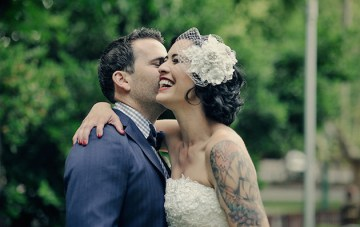 Stunning Al Fresco Wedding with DIY Details and Lashings of Vintage Glamour